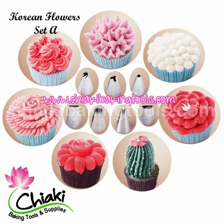 Spuit Korean Flowers Set A (7pcs)