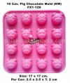 16 Cav. Pigs Chocolate Mold (KW) FX1-129